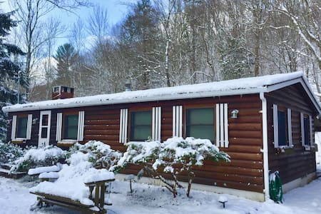 Gorgeous Creekside View! Log Cottage with Sunroom! - Big Indian - Haus