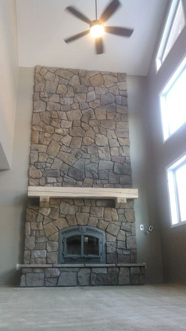 brand new..as of Jan 2017. real wood burning fireplace in the great room