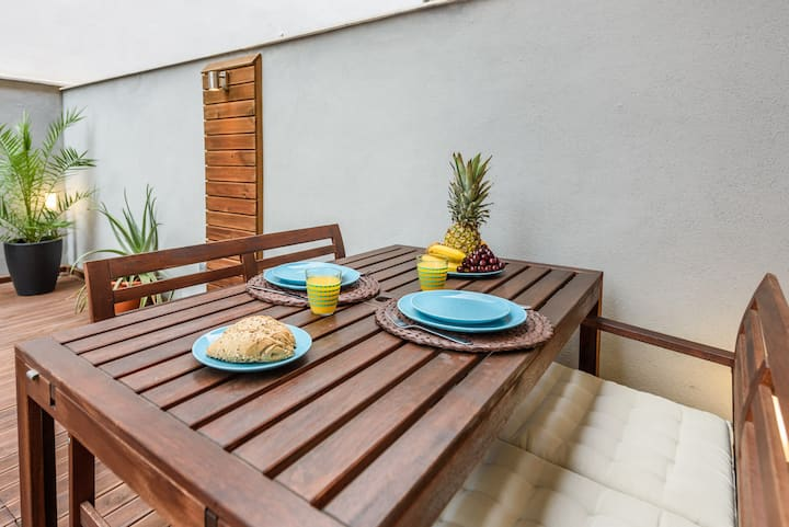 Appartement avec terrasse, Malaga centre+Parking.