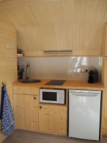 Your tiny kitchen full equipted