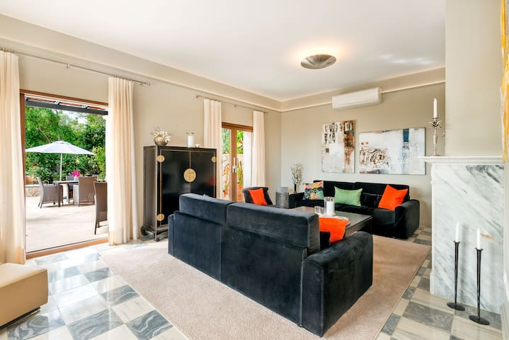 Living room with direct outdoor access