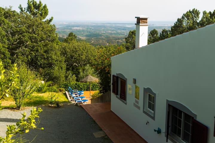 Villa Pica-Pau, with stunning views to the coast.