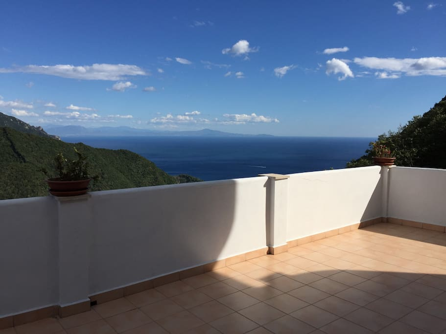 Panoramic View from the terrace of the Apartement