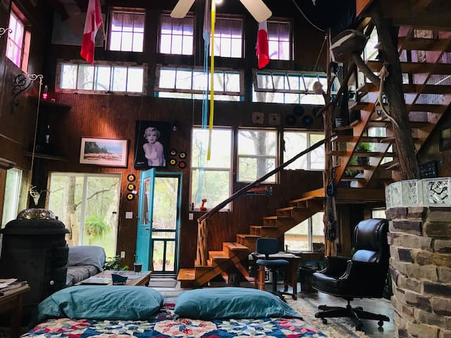 2 story Barndominium-treehouse in the woods