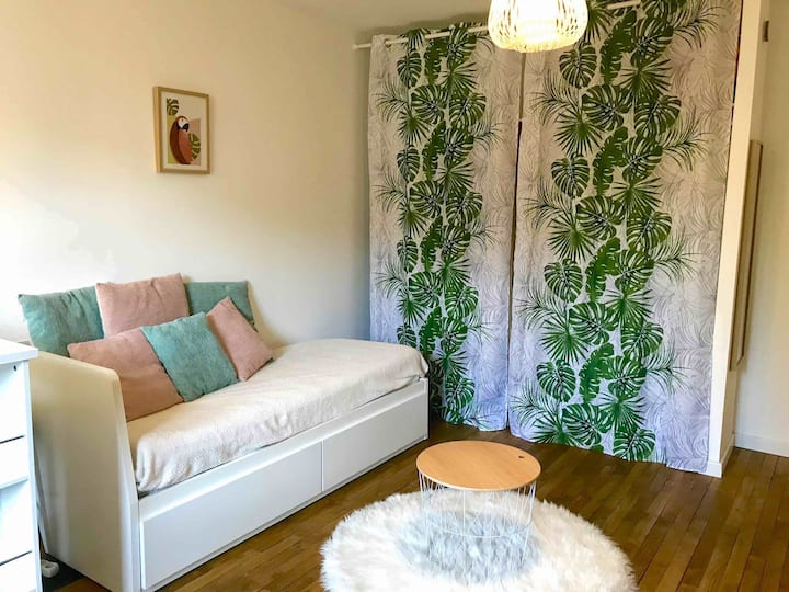 Urban jungle, studio cosy Limoges centre Gare