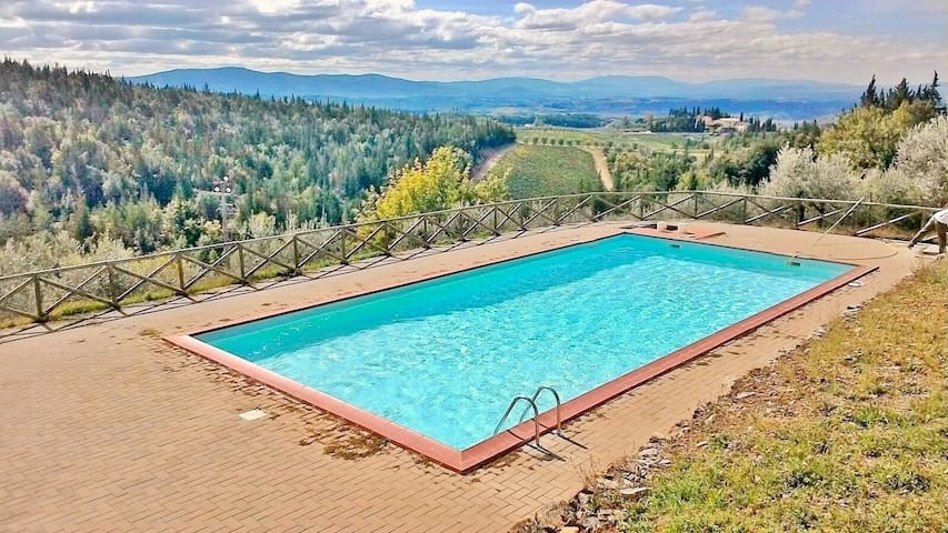 *Premium*SWIMMING POOL+TENNIS!*2BR - Castellina in Chianti - アパート