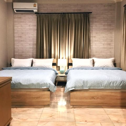 2Queen Bed  @Sukhumvit>> 9min from BTS Thonglor