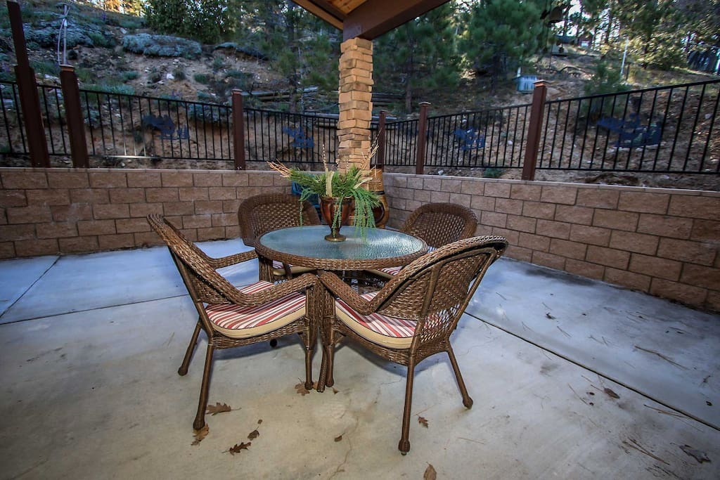 Table and Chairs on Back Enclosed Patio