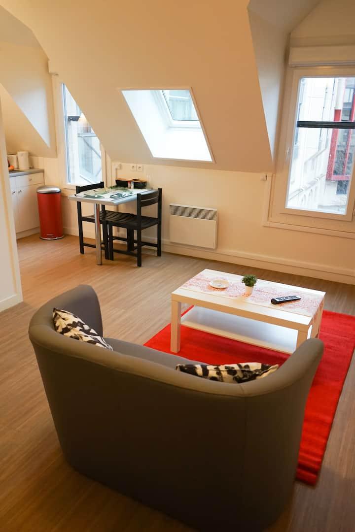 Studio spacieux aux pieds des transports en commun