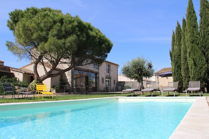 Gîte de charme 17pers piscine chauffée Carcassonne
