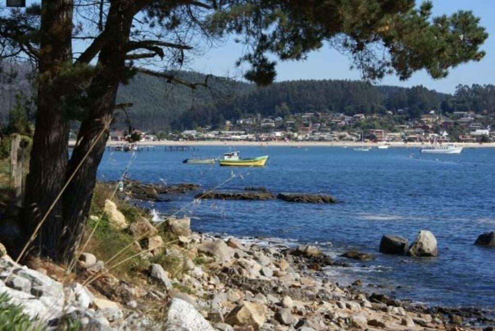 Imagen de la Bahía de Coliumo, desde Pingueral a Dichato