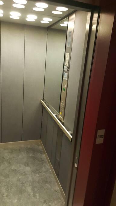 L'ascenseur de l'appartement