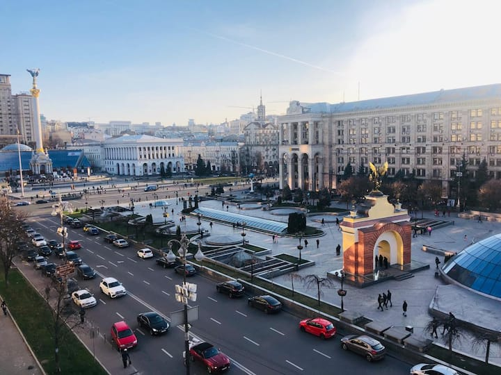 Amazing view of the Maidan!