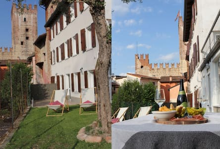 House in Marostica old-town with garden and view
