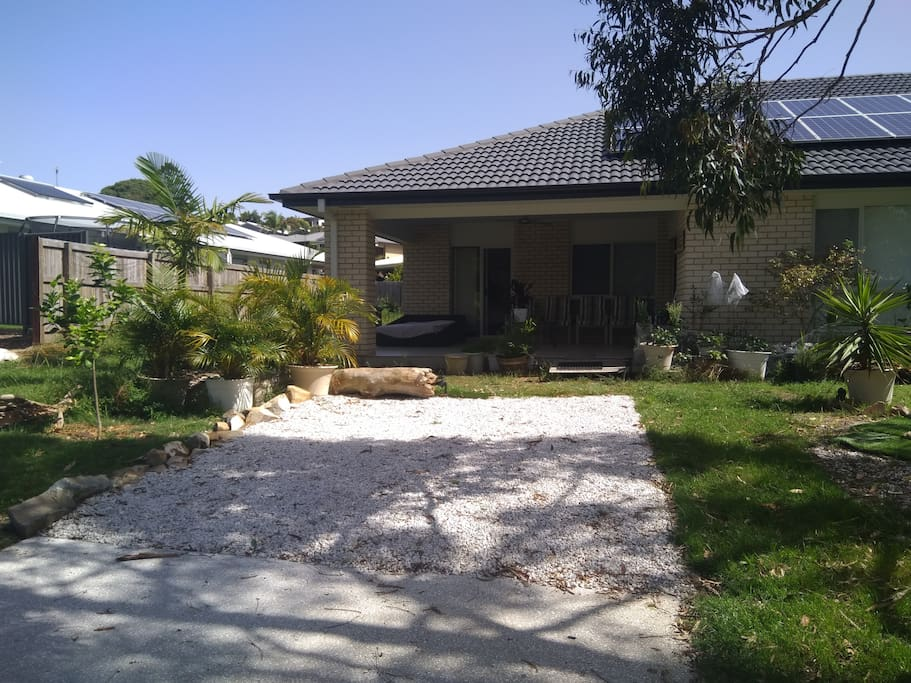 Guests driveway as seen from brushtail court