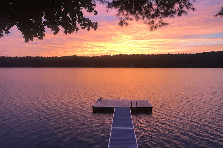 Private island on Crystal Lake in Gray, Maine