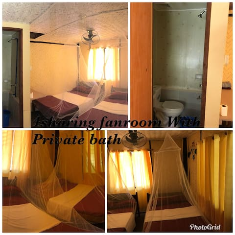 King's LodgingHouse&Restaurant 3pax/bath/fanroom
