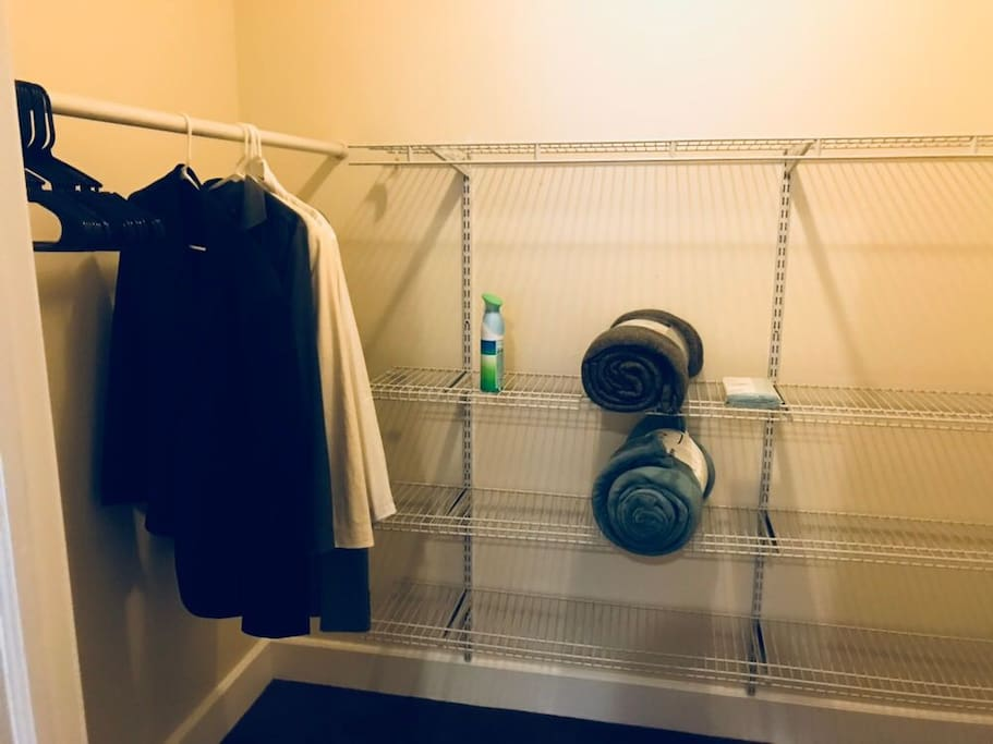 Full use of walk-in closet