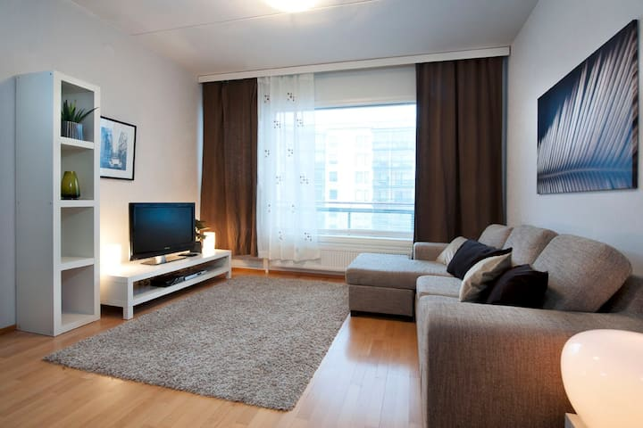 Comfortable 1-br apartment with sauna and balcony