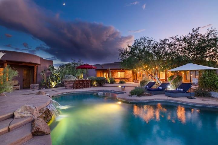 Westland by AvantStay | Desert Oasis w/ Mountain View, Pool & Basketball Court!