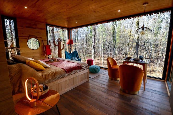 Lodge MOODYWOOD avec bain relaxant privé