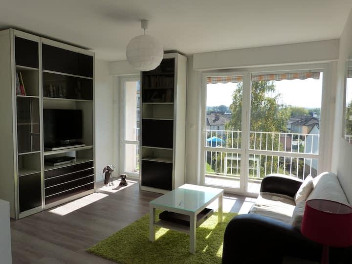 Lumineux appartement de 2 chambres