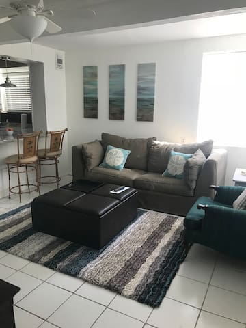 Living Room with Queen sized pull out Sofa