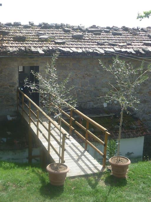 passerelle accès terrasse -solarium