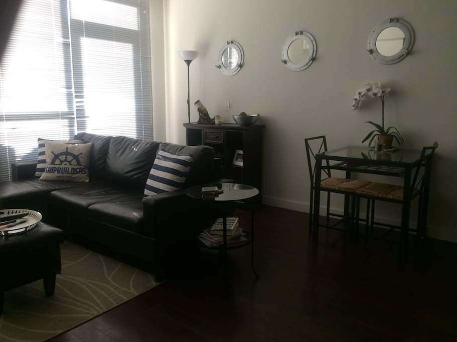 Living room with dinette
