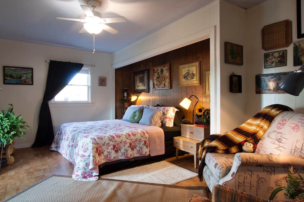 Relax and your beautiful cozy space just minutes from all the action on Haywood!