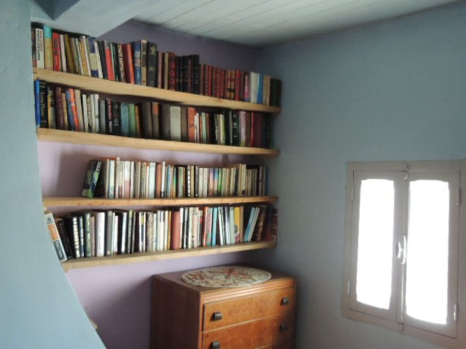 main bedroom on top floor - books in english and french