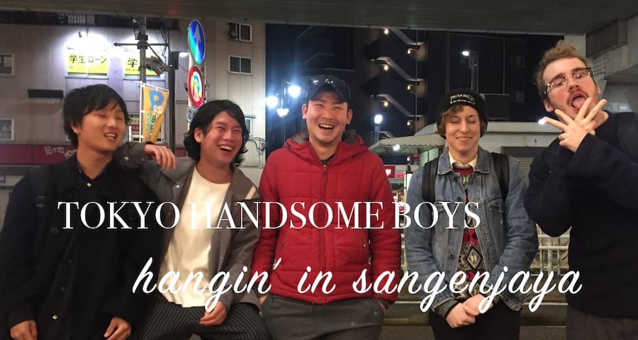 Tokyo Handsome Boys in SANGENCHAYA near Shibuya