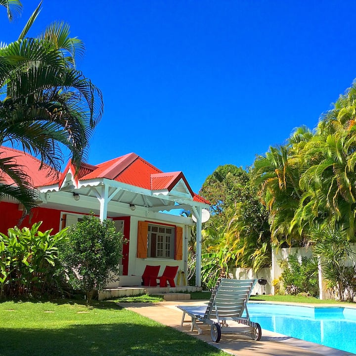 Grande villa face à la Mer des Caraïbes, Deshaies.