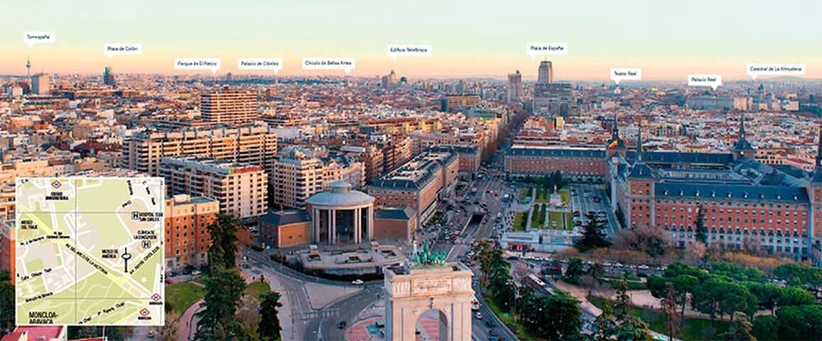 Metro Argüelles/Moncloa 1 habitación apartamento