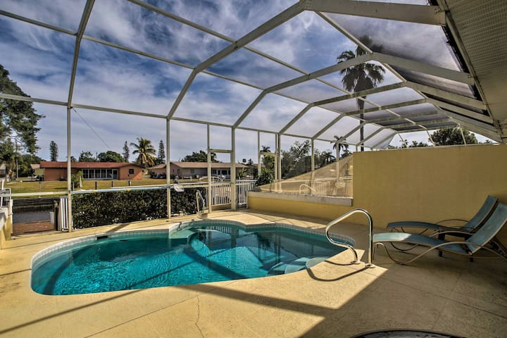 Cape Coral Townhome w/Screened Pool & Private Dock