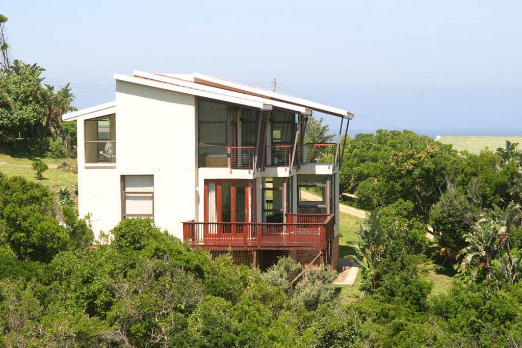 balconies with sea and bush valley views