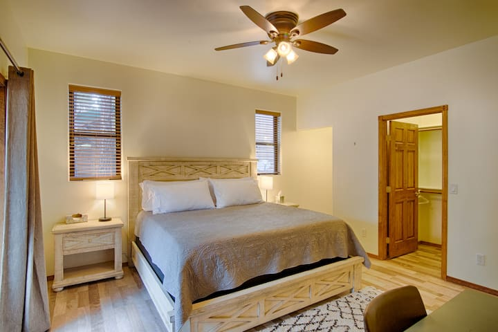 King size bed in the master