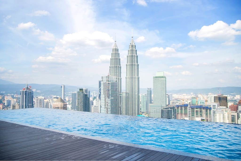 Superior KL View and Infinity Pool at 51 floor height  Infinity pool at 51st lv with KLCC view