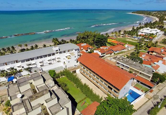 Flat305 à 20m PraiaDCarneiros FRENTE PISC NATURAIS