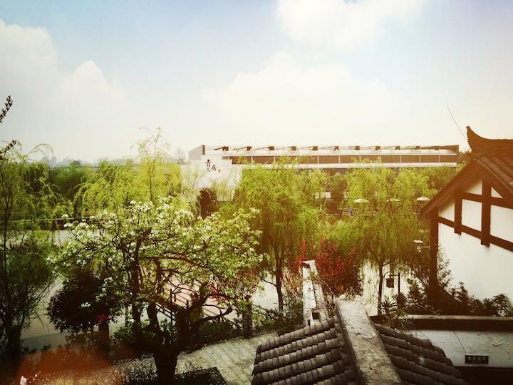 眉山市 青瓦房民宿酒店 /看得见风景的房子/乡村旅游