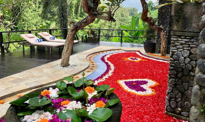 Tesfay, Airbnb On-Line Guest Review:  My wife and I stayed at the River Villa and had the best experience. We came to Bali for our honeymoon...Butler, massage therapist, service staff..you have to experience it yourself..Truly a memorable experience