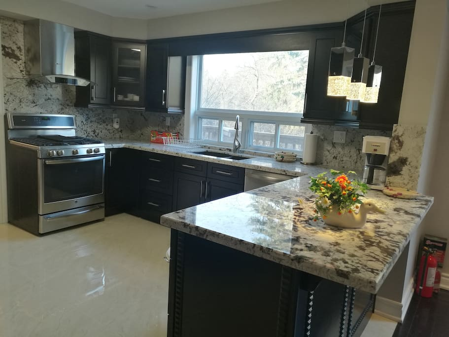 kitchen with ravin view