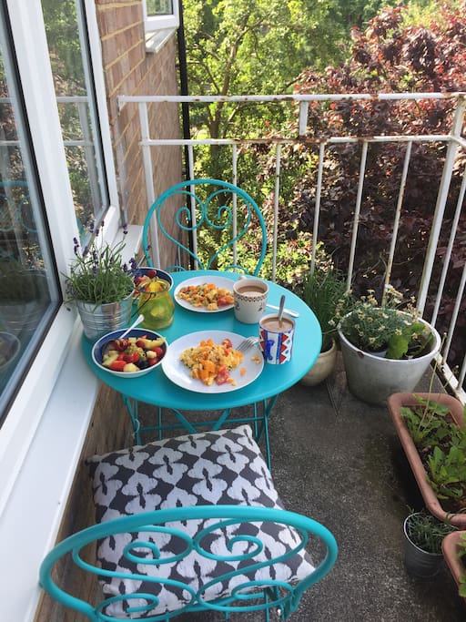 Balcony for morning coffee and brekky