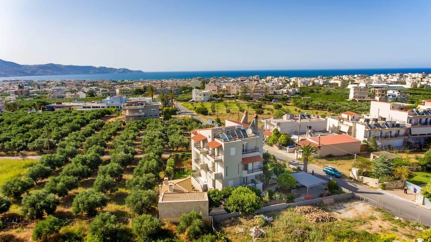 Amazing sea-mountain view near Heraklion city