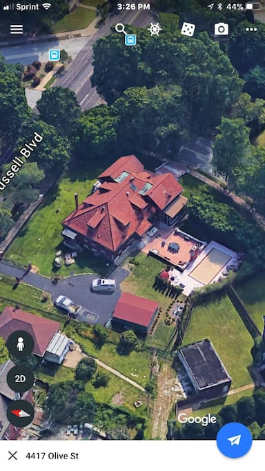 Google Earth Aerial Photo of Estate