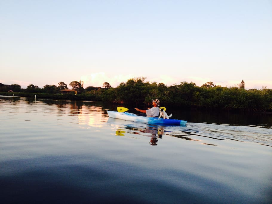 Enjoy a paddle along the beach or inter coastal waterway in one of our kayaks.