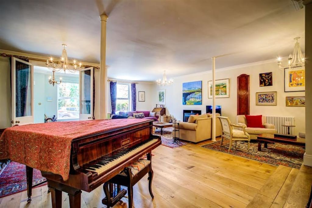 Drawing Room - baby grand piano