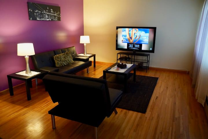 Newly remodeled living room with IKEA furniture.