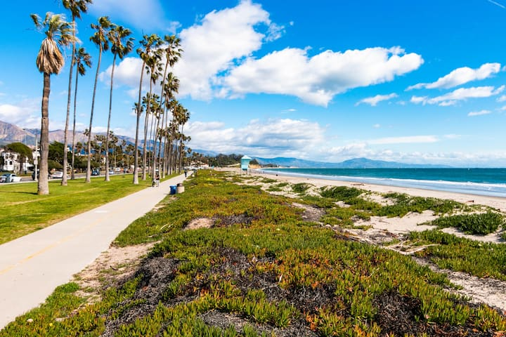 Famed East Beach is within a block of your studio.