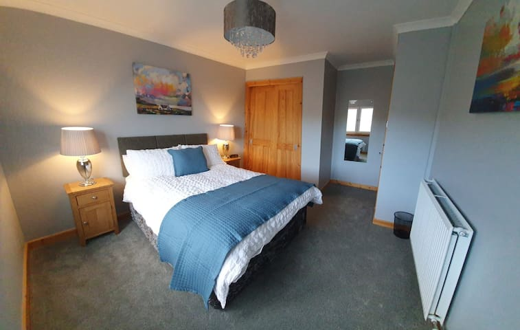 Roomy second bedroom with double bed and comfy hotel quality bedding